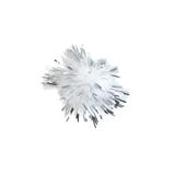 Glitter Pom Poms: 2.5cm (1in): Silver