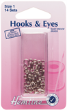 Hook and Eyes: Nickel - Size 1