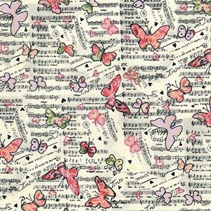 Musical Butterflies - Ivory