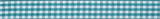 Gingham Ribbon : 5m x 15mm: Teal