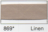 25mm Bias Binding - Linen