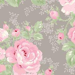 Clothworks - Emma's Garden - Bloom - Taupe