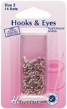 Hook and Eyes: Nickel - Size 2
