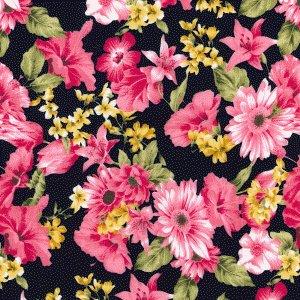 Mixed floral - Navy