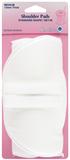 Shoulder Pads: Standard Set-In - White, Medium
