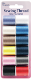 Sewing Thread: 12 Assorted Colours