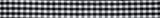 Gingham Ribbon : 5m x 15mm: Black