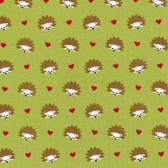 Michael Miller - Fox woods - Hedgehog Heaven - Lime