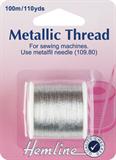Metallic Thread: Silver - 100m