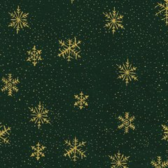 Gold Snowflake - Green