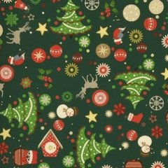 0.90mtr Remnant - Christmas Cheer - Green