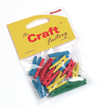 Pegs: Wooden: Coloured