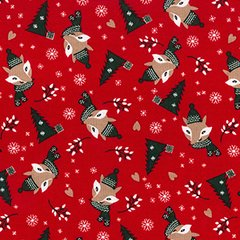 Foxy Christmas - Red