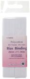 Polycotton Bias Bindings: White - 25mm