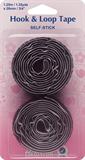 Hook & Loop Tape: Stick-On: Value Pack: 1.25m x 20mm: Black (Velcro)