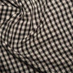 Corded Gingham 1/4'' checks - Black