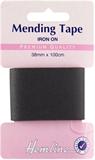 Iron-On Mending Tape: Black - 100cm x 35mm