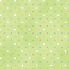 Clothworks - Guess How Much I Love You - Spots - Green