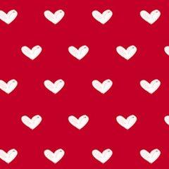 Clothworks - Vintage Valentine - Hearts - Red