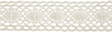 Cotton Lace: 5m x 30mm: Cream