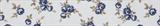 Grosgrain Ribbon : 5m x 20mm: Navy Rose: White