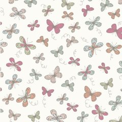 Woodland Butterflies - Cream