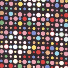 0.65mtr Remnant - Totally Dotty - Black