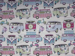 0.85mtr Remnant - Lifestyle Cotton Happy Campers - Candy