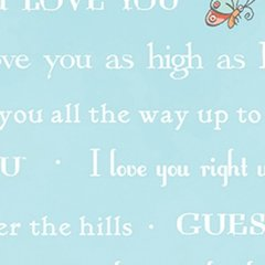 Clothworks - Guess How Much I Love You - Bedtime Story - Blue