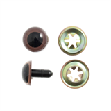 Toy Eyes: Safety: Brown: 15mm: 4 pack