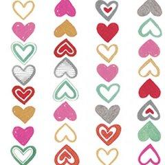 Clothworks - Vintage Valentine - Hearts on a string
