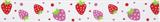 Grosgrain Ribbon : 5m x 20mm: Strawberries: White