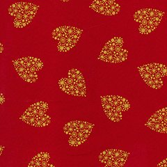 Christmas Hearts - Red