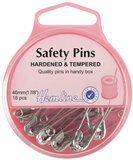 Safety Pins: 46mm - Nickel - 18pcs