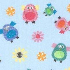Baby Owls - Light Blue