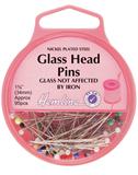 Glass Head Pins: Nickel - 34mm, 95pcs