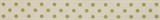 Natural Ribbon : 5m x 15mm: Dots: Lime Green