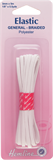 General Purpose Braided Elastic: White - 5m x 3mm