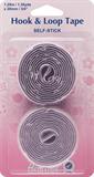 Hook & Loop Tape: Stick-On: Value Pack: 1.25m x 20mm: White (Velcro)