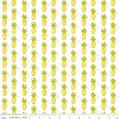 Riley Blake - Fresh Market - Pineapple - White
