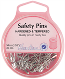 Safety Pins: 34mm - Nickel - 30pcs