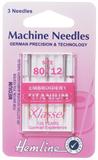 Embroidery Machine Needles - Titanium 80/12