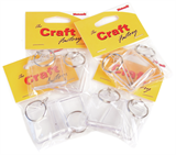 Key Rings: 4cm x 4cm: 2 pack