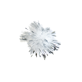 Glitter Pom Poms: 1.3cm (1/2in): Silver