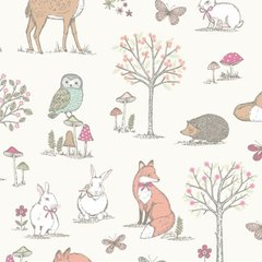 Woodland Animals - Cream