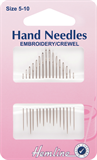 Hand Needles Embroidery/Crewel: Size 5-10