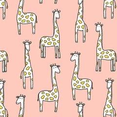 Michael Miller - Baby Zoo - Gentle Giraffes - Pink