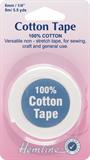 Cotton Tape: White - 5m x 6mm