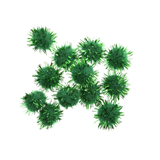 Glitter Pom Poms: 1.3cm (1/2in): Green