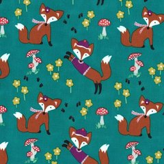 Michael Miller - Fox woods - Lil' foxy - Teal